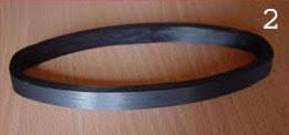Ellipse en carbone haut module résine epoxy